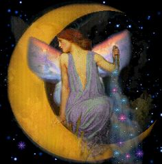 LISTO Na Vintage Moon Fairy