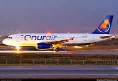Onur Air Airbus A320 Onur Air, Twitter, Aircraft, Night, Airports, Airplanes, Dusk, Aviation, Planes