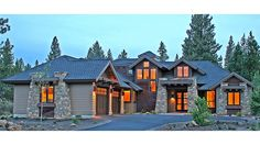 Contemporary Craftsman-Style Lodge HWBDO77112 Contemporary/Modern Houses from BuilderHousePlans.com upper deck and mudroom