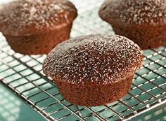 Fluffy Chocolate Spiced Muffins will taste great fresh out of the oven!