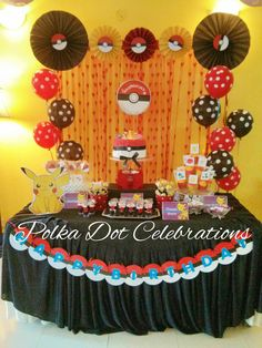 Cake Table styled by www.polkadotcelebrations.com
