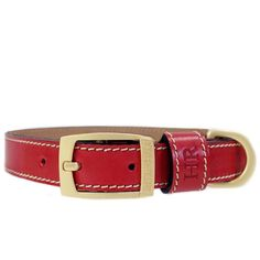 Ferrari Red Leather Collar, Red Leather, Ferrari, Designer Dog Collars, Natural Tan, Matte Gold, Classic Looks, Accessories, Classy Looks