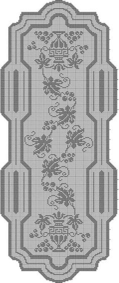 World crochet: Tablecloth 66 Filet Crochet Charts, Crochet Doily Patterns, Thread Crochet, Crochet Doilies, Crochet Stitches, Crochet Table Runner, Crochet Tablecloth, Crochet Home, Crochet Crafts