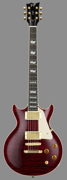 ESP Kirk Hammett KH-DC (2012). The perfect Les Paul double cutaway shape that Gibson, for some mysterious reason, refuses to produce.