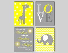 Elephant Nursery Wall Art   Giraffe Nursery by inkspotsgallery, $60.00