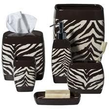 Zebra Bathroom Accessories