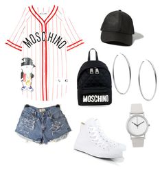 Mommy and son day out by brussstyles on Polyvore featuring polyvore, fashion, style, Moschino, Converse, Michael Kors, Normal Timepieces and Abercrombie & Fitch