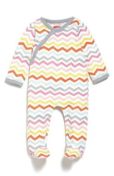 Skip Hop Cotton Footie (Baby Girls) available at #Nordstrom
