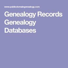 Genealogy Records Genealogy Databases