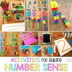 Math tips and strategies for building number sense to 20 in Kindergarten and first grade. An extensive list of number sense activities and resources are included: books, materials, math manipulatives, and FREE activities! #mathforkids #firstgrade #kindergartenmath #firstgrademath #kindergarten #numbersense #numberactivities #mathactivitiesforkids