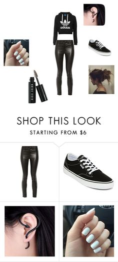 im not goth but i like black by brittrolon on Polyvore featuring J Brand, Vans, Bobbi Brown Cosmetics and adidas Originals