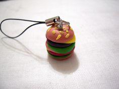 Hamburger ciondolo per cellulare