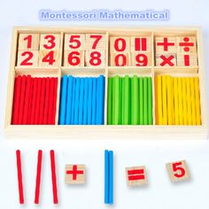 Hot Selling Baby Education Toys Wooden Counting Sticks Toys Montessori Mathematical Baby Gift Wooden Box #>=#>=#>=#>=#> Click on the pin to check out discount price, color, size, shipping, etc. Save and like it!