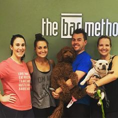 Happy Bar-thday to Bar-hubby and part-time AV tech and IT support ERIK! And here is no better way to celebrate than taking class with Erin and Becky with some puppy snuggles afterwards! #barmethoddcbethesda #barmethodlove #barmethod #barrepup