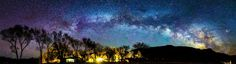 milky way over deep springs college[9550*2591][oc]