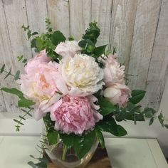 With such a short season, peony roses are a true Summer wedding favourite. These scented beauties don't need much to go with them, but are perfectly complimented by the eucalyptus here. Flower Bouquet Wedding, Rose Wedding, Wedding Day, Bridal Bouquets, Peony Rose, Pink Peonies, Special Day, Compliments, Floral Wreath