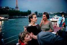 Picture of Friends celebrate the end of school on a twilight Seine River cruise