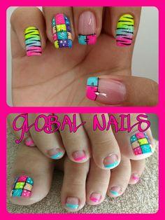 Uñas Shellac Nail Designs, Pedicure Designs, Shellac Nails, Diy Nails, Nail Picking, Baby Pink Nails, Cute Pedicures, Acrylic Nails At Home, Hello Kitty Nails