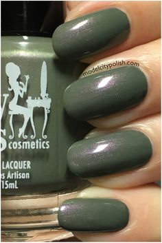 Girly Bits - Dead Man's Toe. A khaki green creme with pink shimmer.