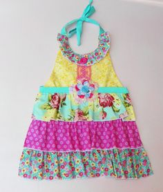 Beautiful Summer Delight Apron by WildOliveKids on Etsy, $28.00
