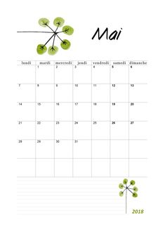 Calendrier 2018 mensuel à imprimer - calendriers PDF. Minimalist Drawing, Bujo, Layout, Printables, Illustration, How To Plan, Inspiration, Lynx, School