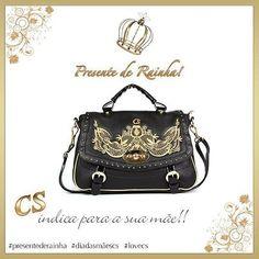 #Dica especial CS! Que tal esta bolsa de estilo barroco para presentear sua mãe? #presentederainha #diadasmãescs #lovecs #carmensteffens ❤