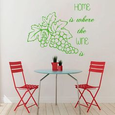 Grapes Decal Wine quote