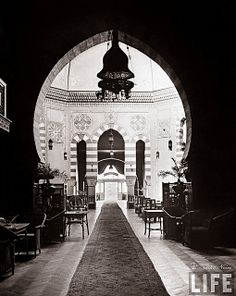 COTS:  Interior view of Shepheard's Hotel - Cairo In 1942 by Tulipe Noire