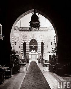 Interior view of Shepheard's Hotel - Cairo In 1942