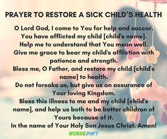 8 miracle prayers for a sick child - nursebuff Prayers For Healing Children, Prayers For Sick Child, Prayer For Healing The Sick, Prayers For Hope, Prayers For Strength, Strength Prayer, Sick Child Prayer, Prayer For Baby, Prayer For Parents