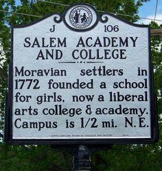 Salem Academy and College, Winston Salem, NC