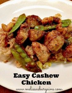 Easy Cashew Chicken 2 lbs boneless skinless chicken breasts (cut into pieces) ¼ cup flour ½ tsp black pepper 3 Tbsp olive oil ¼ cup soy sauce 2 Tbsp rice vinega. Easy Cashew Chicken Recipe, Chicken Recipes, Turkey Recipes, Dinner Recipes, Asian Recipes, Healthy Recipes, Food Dishes, Main Dishes, I Love Food