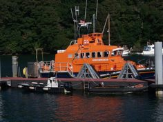 RNLI, Fowey lifeboat, Cornwall, UK, photo taken by Debbie Corke, September 2013,shorelings1@gmail.com
