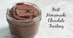 This is a simple and delicious recipe for what is truly the best homemade chocolate frosting. It& the perfect frosting for any birthday cake or treat. Homemade Chocolate Frosting, Chocolate Icing, Best Chocolate, Chocolate Chocolate, Chocolate Chip Shortbread Cookies, Chocolate Chip Cheesecake, Homemade Chili, Cookie Icing, Baking Ingredients