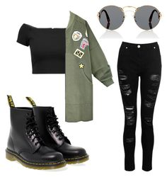 """Untitled #677"" by stdesir on Polyvore featuring Alice + Olivia, Dorothy Perkins, Dr. Martens and Prada"
