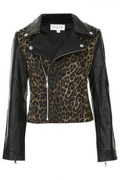 **Faux Leather Jacket by WYLDR by: Topshop