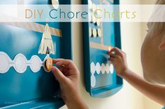 Craftaholics Anonymous® | DIY Cookie Sheet Chore Charts | Made out of old baking pans