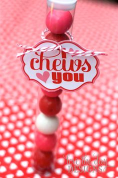"""i chews you"" Valentine from Love The Day... so cute!"