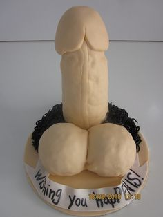 """Wishing you hapPENIS""! Gotta have a penis cake!"