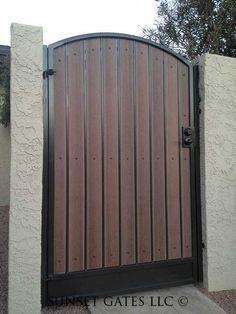 Fence Gate Design, Front Gate Design, Main Gate Design, House Gate Design, Side Gates, Entry Gates, Front Gates, Wooden Gate Designs, Backyard Door