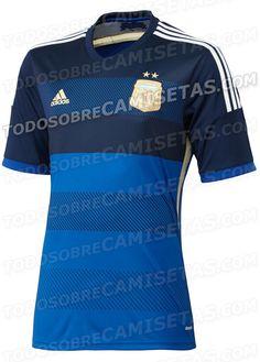 Camisa 2 da Argentina para o Mundial - http://www.colecaodecamisas.com/camisa-2-da-argentina-para-o-mundial/ #colecaodecamisas #Adidas, #Copadomundo2014