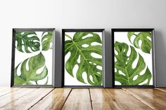 Palm Wall Art Prints | Palm Leaf Poster | Monstera Leaf Art | Tropical Wall Poster | Palm Leaf Prints | Botanical Leaf Art | Palm Leaves by JuliettaDesigns on Etsy