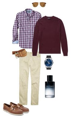 """""""purple sweater"""" by ulusia-1 ❤ liked on Polyvore featuring Ralph Lauren, Banana Republic, Sperry, Nautica, Alexander McQueen, Persol, Henry London, Christian Dior, men's fashion and menswear"""