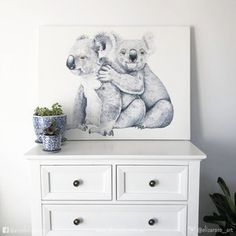 Koala watercolour painting - Australian animal art. Instagram @elizarose_art Facebook @artofelizarose Australian Animals, Australian Art, Watercolour Paintings, Watercolor, Nursery Art, Delicate, Design Ideas, Facebook, Interior Design