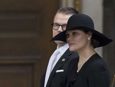 Crown Princess Victoria visibly sadden at the loss of beloved aunt HRH Princess Lilian of Sweden, Duchess of Halland at ther funeral March 16, 2013