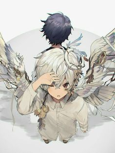 MafuMafu x Soraru Gato Anime, Anime Chibi, Manga Anime, Anime Art, Cute Anime Boy, Anime Love, Anime Guys, Neko Kawaii, Character Art