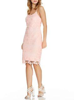 **Quiz Lace Strap Midi Dress