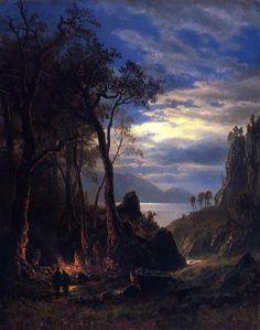 The Campfire: Albert Bierstadt (American, 1830-1902)