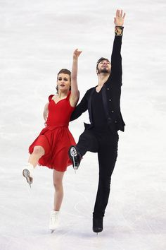 ISU World Figure Skating Championships 2016 - Day 3 Gabriella Papadakis and Guillaume Cizeron of France during Ice Dance Short Dance competition at the ISU World Figure Skating Championships at TD Garden in Boston, Massachusetts, March 30, 2016. / AFP / Timothy A. CLARY
