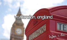 Visit London, England